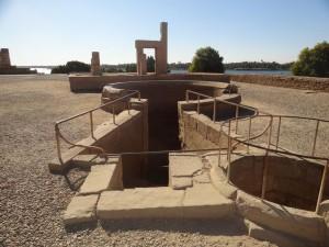 Nilômetro em forma de Ankh - Templo de Sobek (Kom Ombo) - Acervo Pessoal.