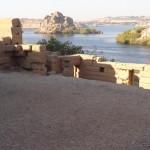 Nilo visto do templo de Philae - Acervo pessoal.