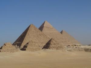 Pirâmides do complexo de Gizé - Acervo pessoal.