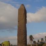 Obelisco no templo de Karnak - Acervo pessoal.