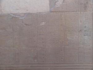 Calendário no Templo de Sobek e Haroeris (Kom Ombo) - Acervo Pessoal.