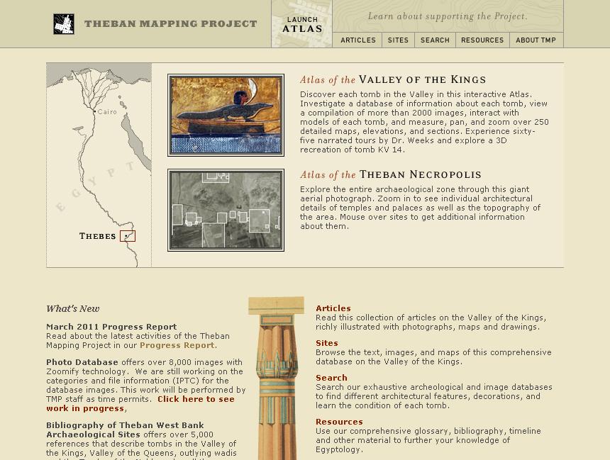 O site Theban Mapping Project é um completo site com informações acerca da necrópole Tebana. Muitos detalhes como fotos, videos, história, localização das tumbas, mapas […]