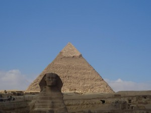 A Grande Esfinge e a Pirâmide do Faraó Khafre (Quéfren)