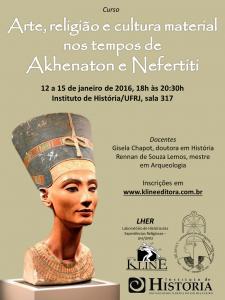 """Curso """"Arte, religião e cultura material nos tempos de Akhenaton e Nefertiti"""""""