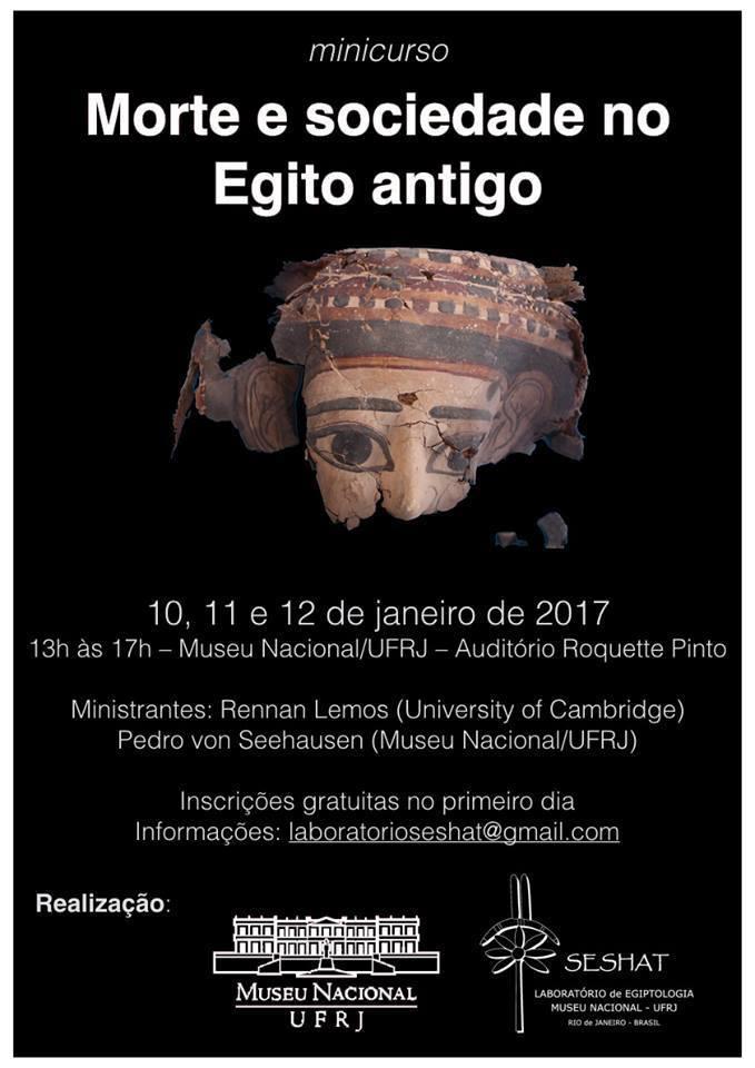 ''Morte e sociedade no Egito Antigo'' de 10 a 12 de Janeiro de 17.