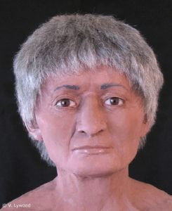 Reconstrução facial mostrando como a múmia parecia. Victoria Lywood, artista forense. Acessado de: http://www.ibtimes.co.uk/egyptian-mummy-discovered-brain-no-heart-shows-shift-mortuary-ritual-1443700